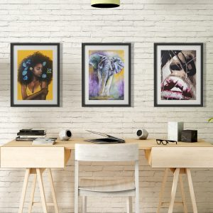 Framed print with mat