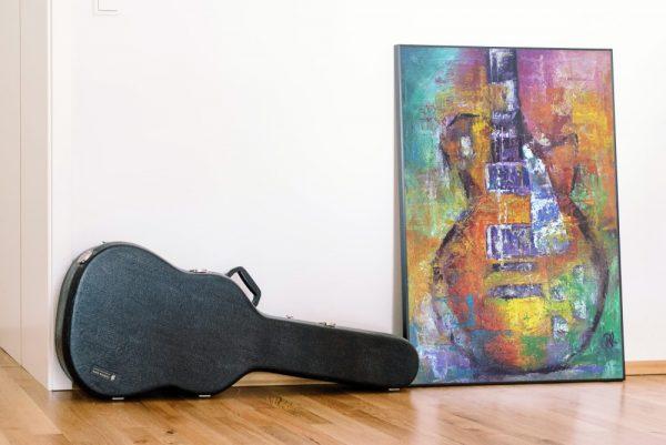 guitarra laminas enmarcadas